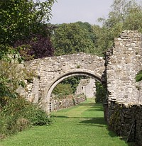 Archway to Coverham Abbey